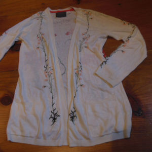 GUINEVERE S Floral Print Open Cardi Sweater